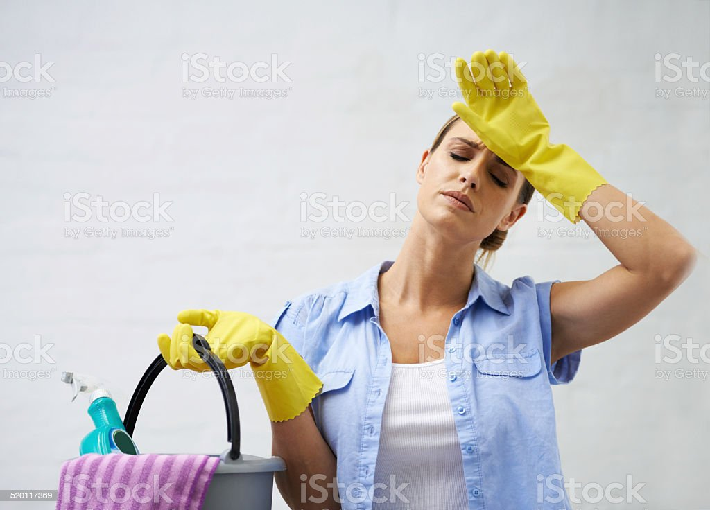 Time to get a housekeeper stock photo