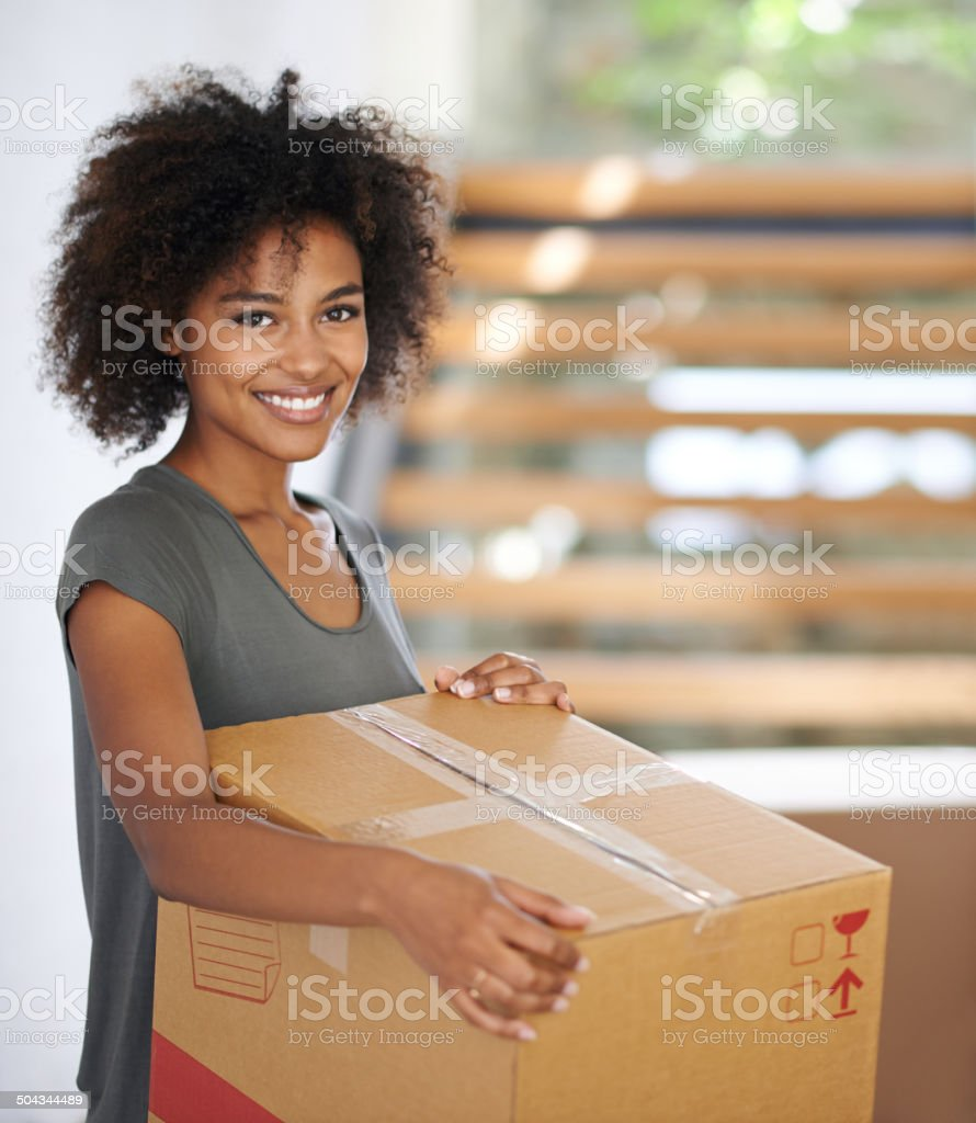 Time to get packed and move on stock photo