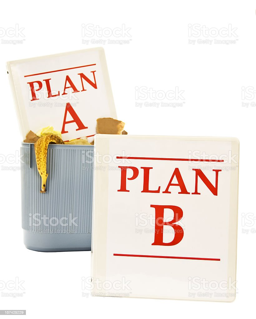 Time to Go For Plan B royalty-free stock photo