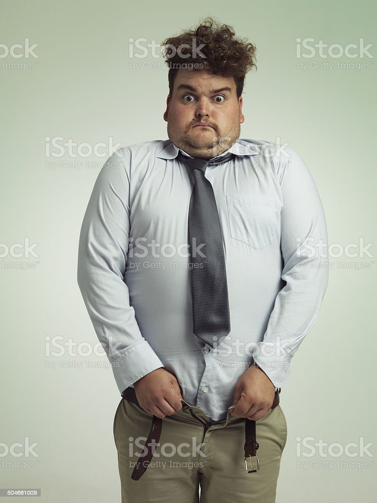 Time to go on a diet stock photo