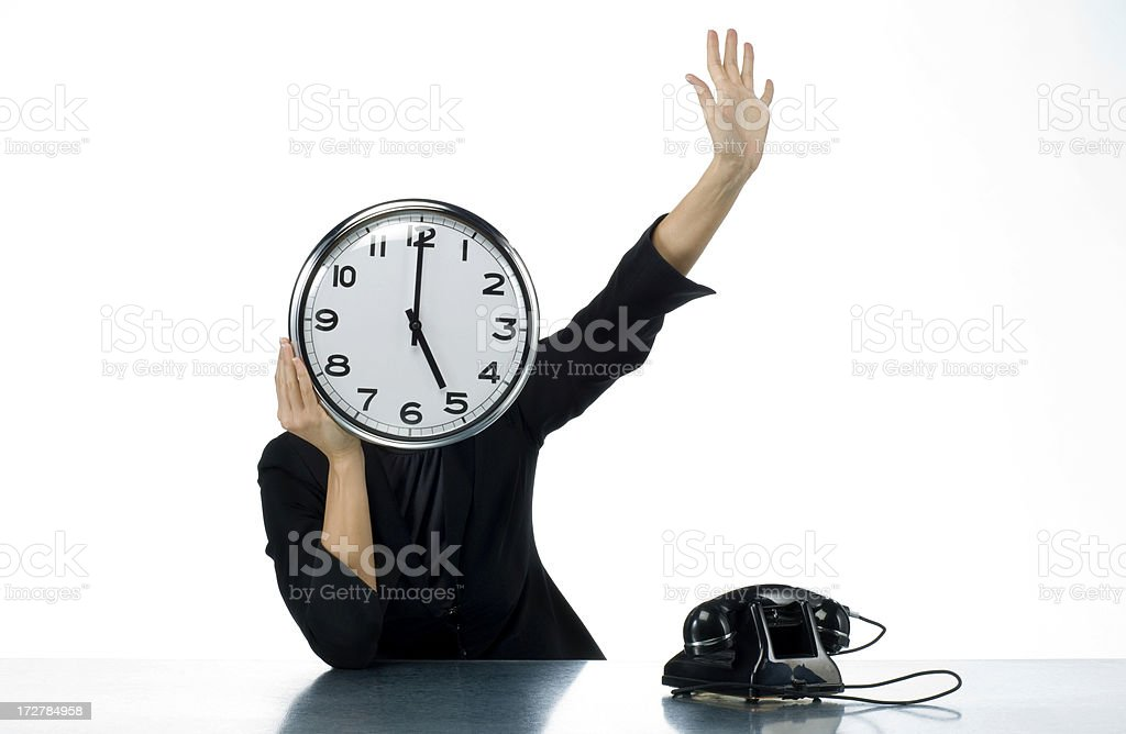 time to go royalty-free stock photo