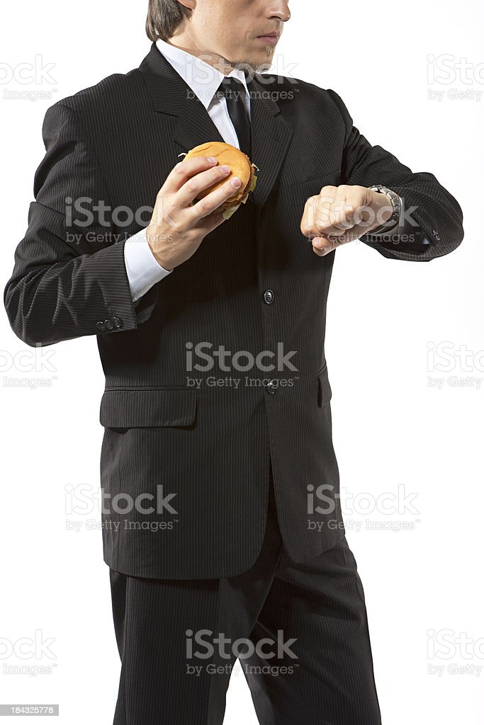 time to have fast food royalty-free stock photo