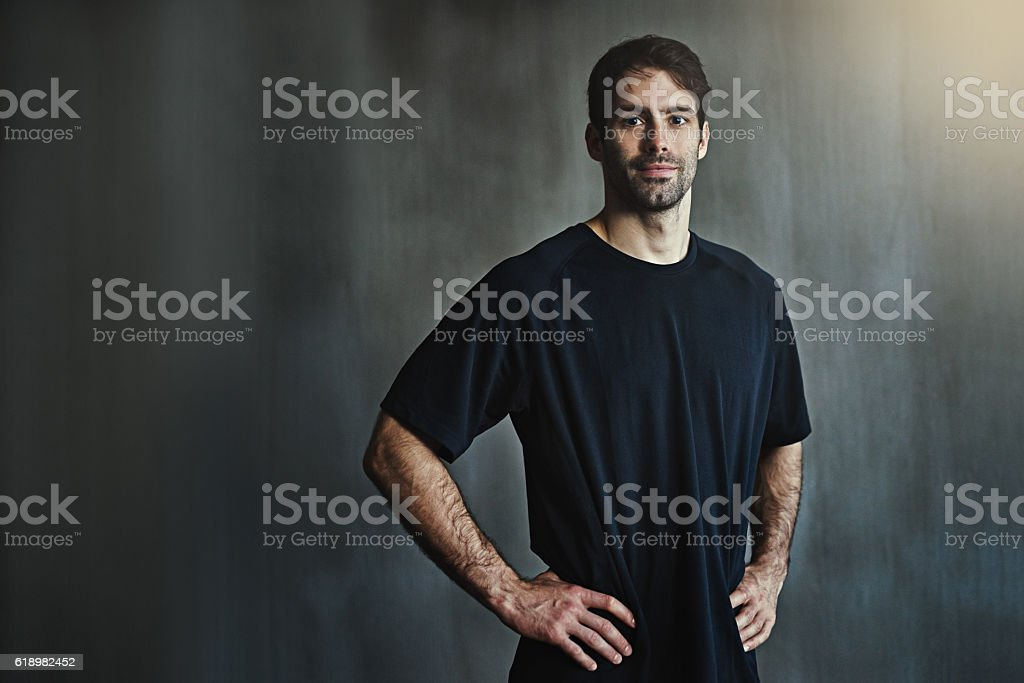 Time to hit the gym hard stock photo
