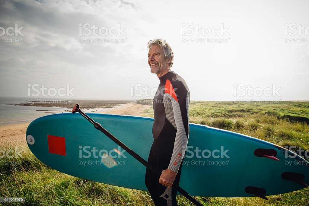 Time to hit the waves stock photo