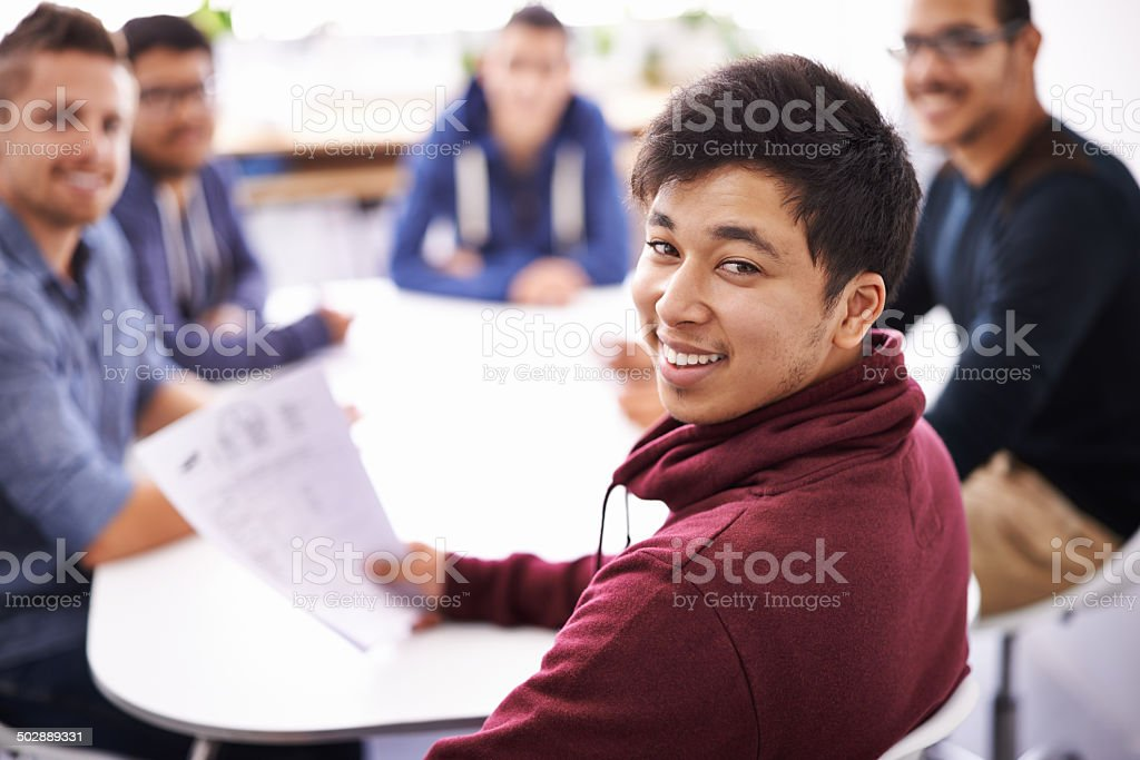Time to kick off the week with a team meeting stock photo