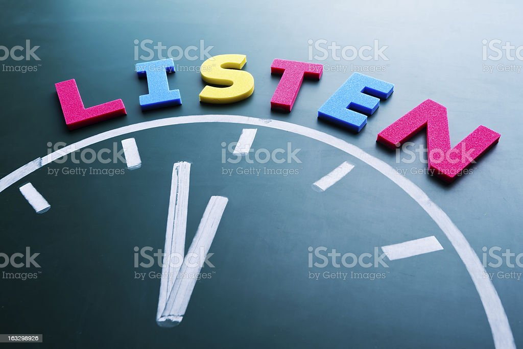 Time to listen concept royalty-free stock photo