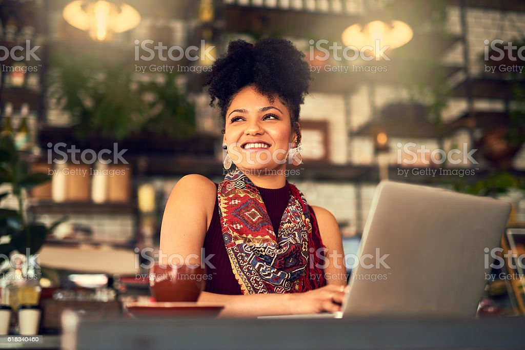 Time to log in and chill out stock photo
