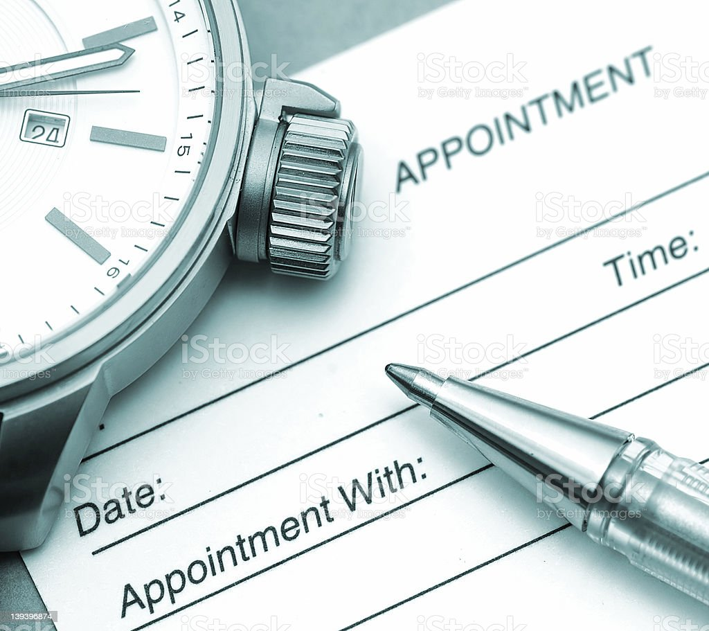 Time to Make An Appointment royalty-free stock photo
