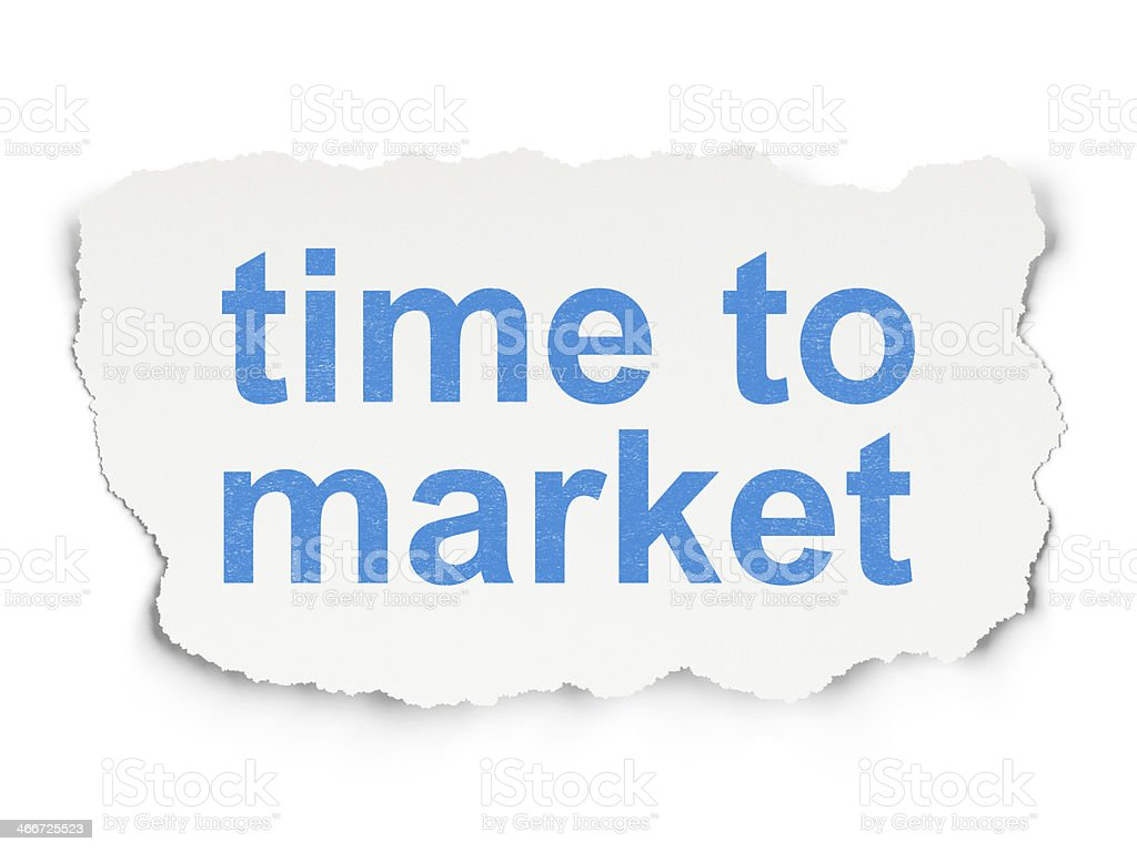 Time to Market on Paper background royalty-free stock photo