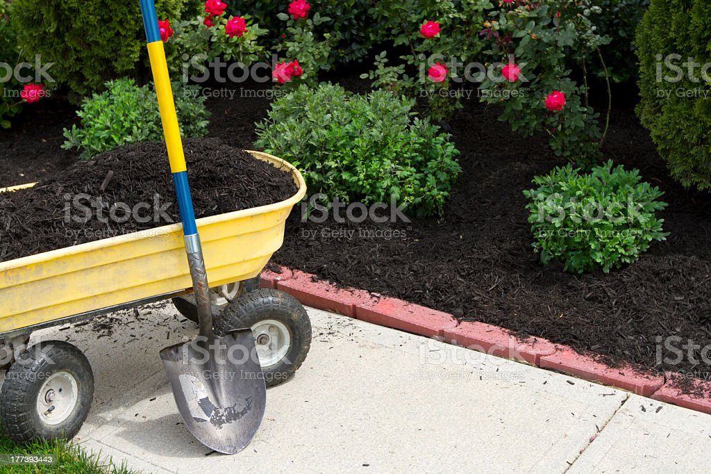 Time to Mulch stock photo