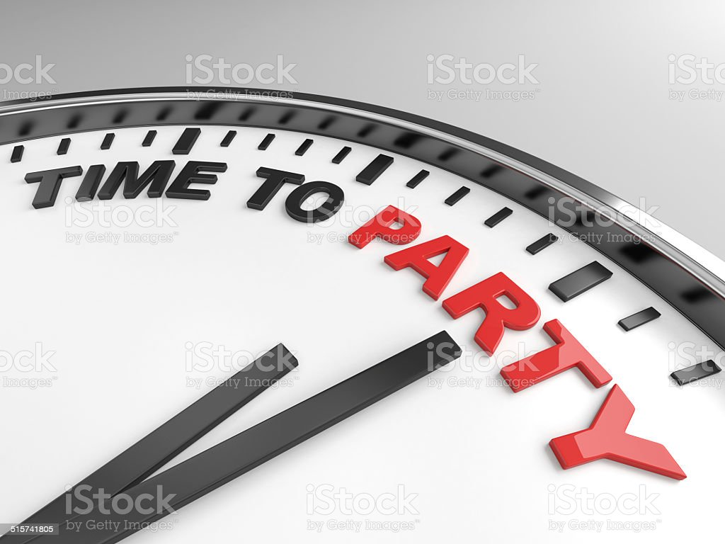 Time to party stock photo