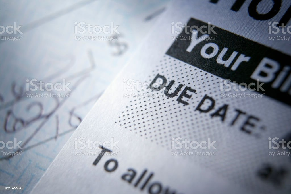 Time to Pay Bills stock photo