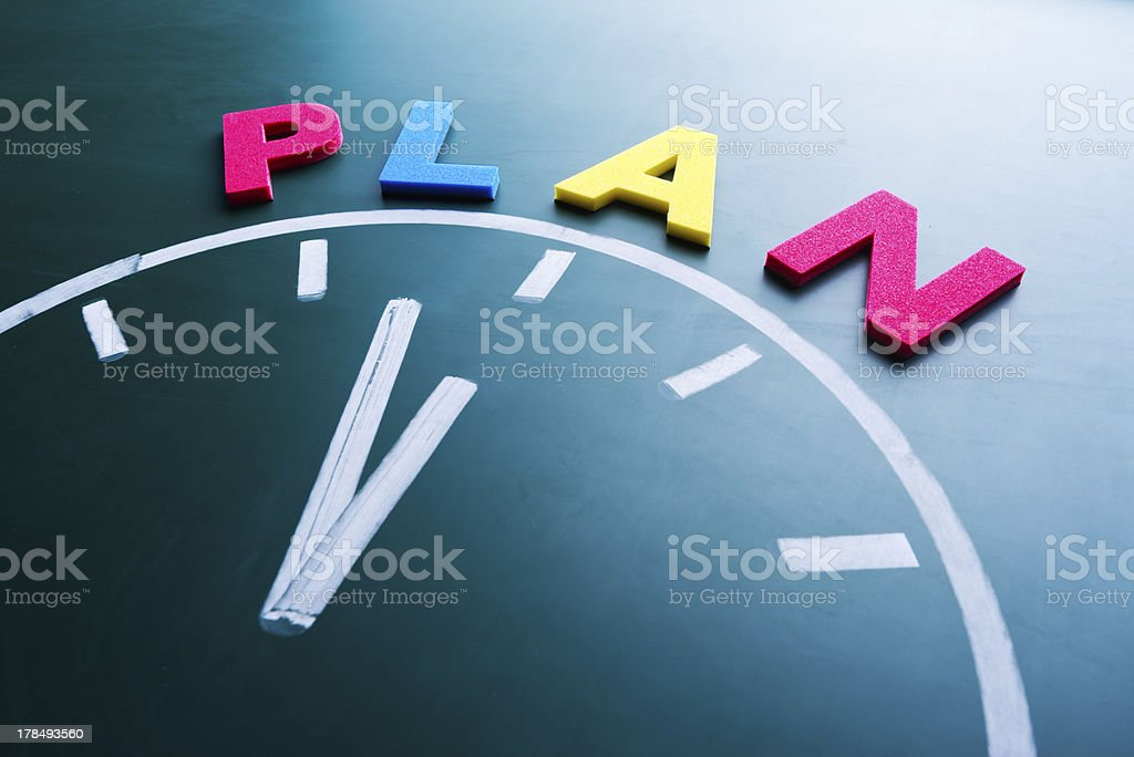 Time to plan concept royalty-free stock photo