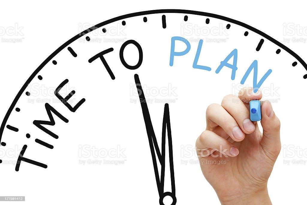 Time to Plan stock photo