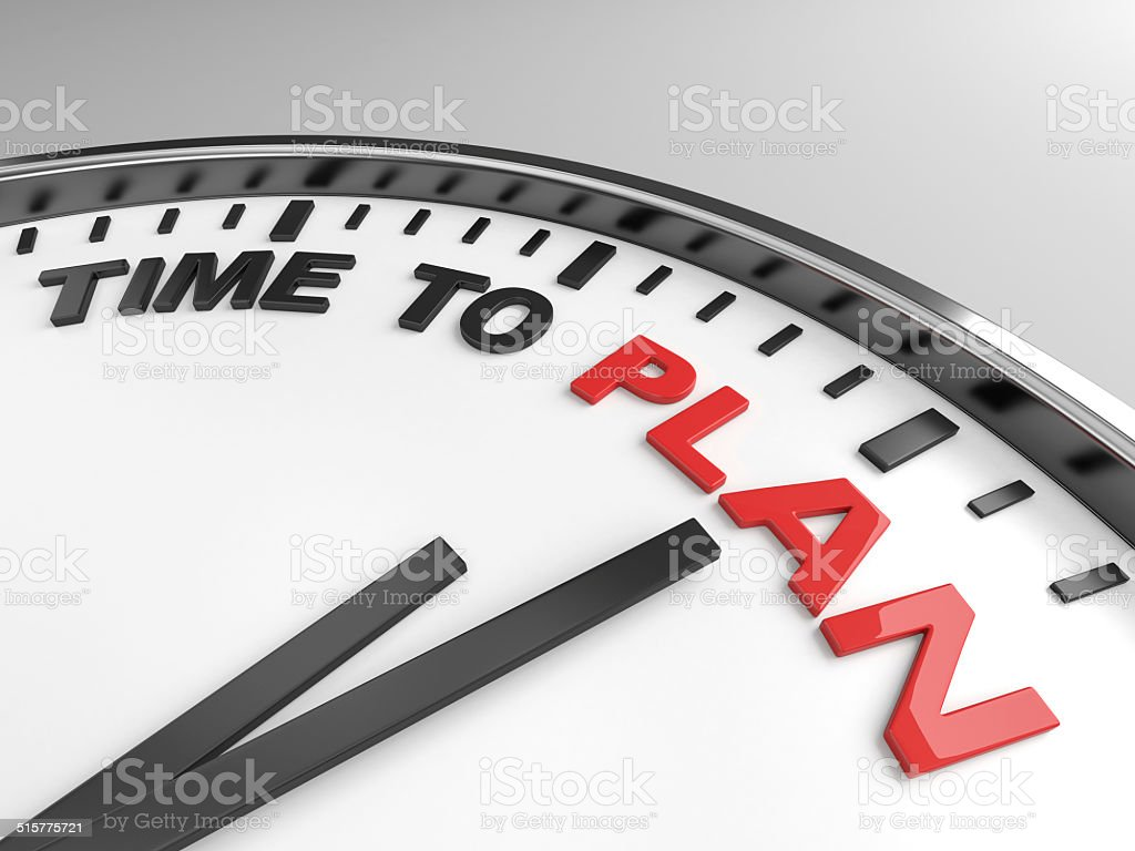 Time to plan vector art illustration