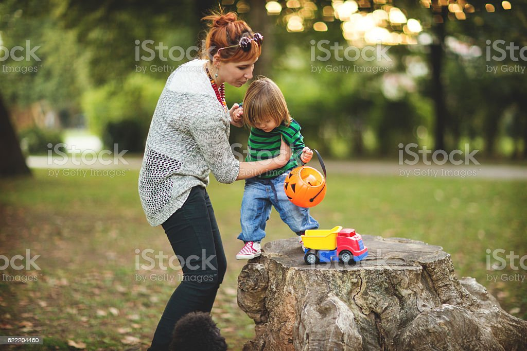 Time to play outdoors stock photo