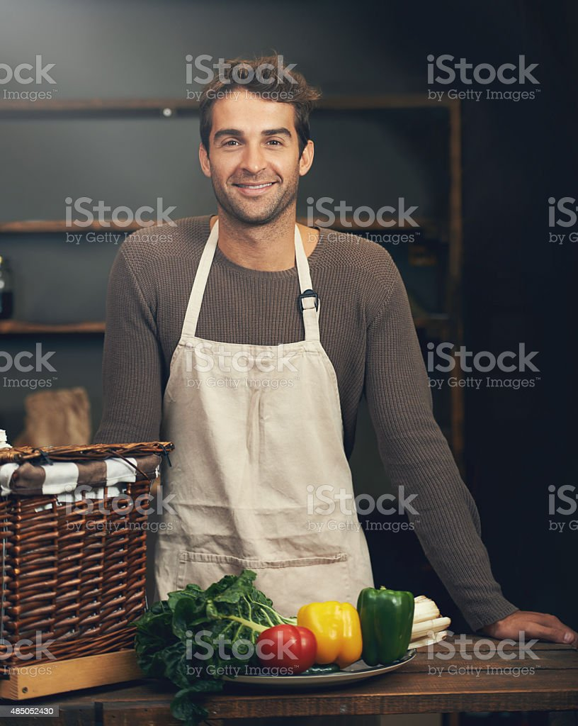 Time to prepare a wholesome meal stock photo