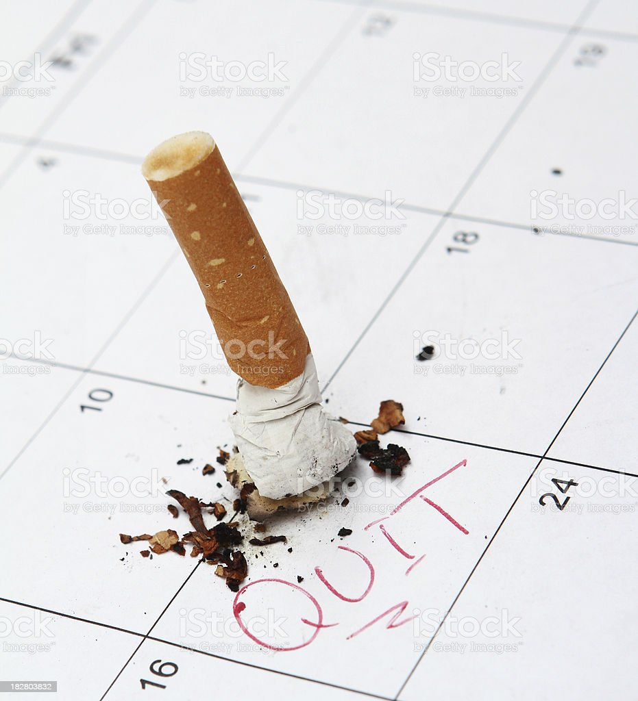 Time to Quit. stock photo