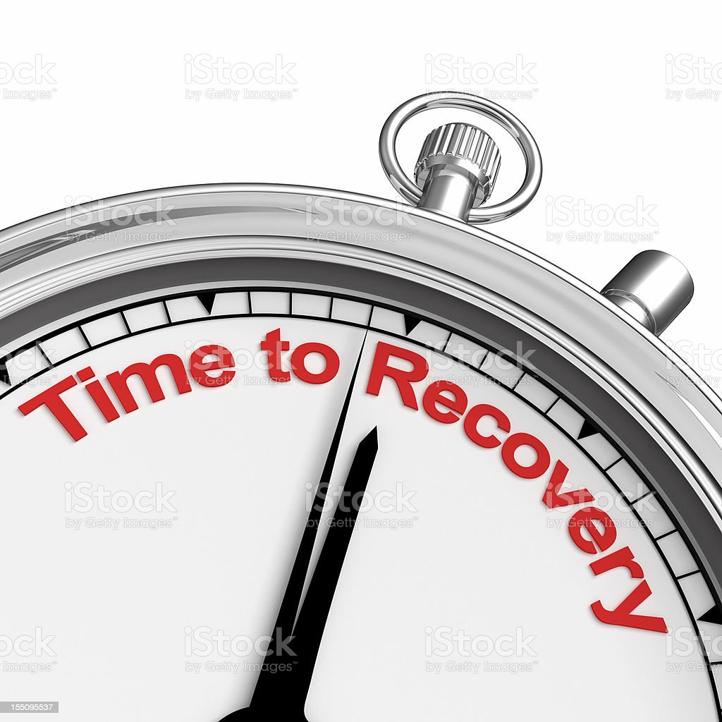 time to recovery stock photo