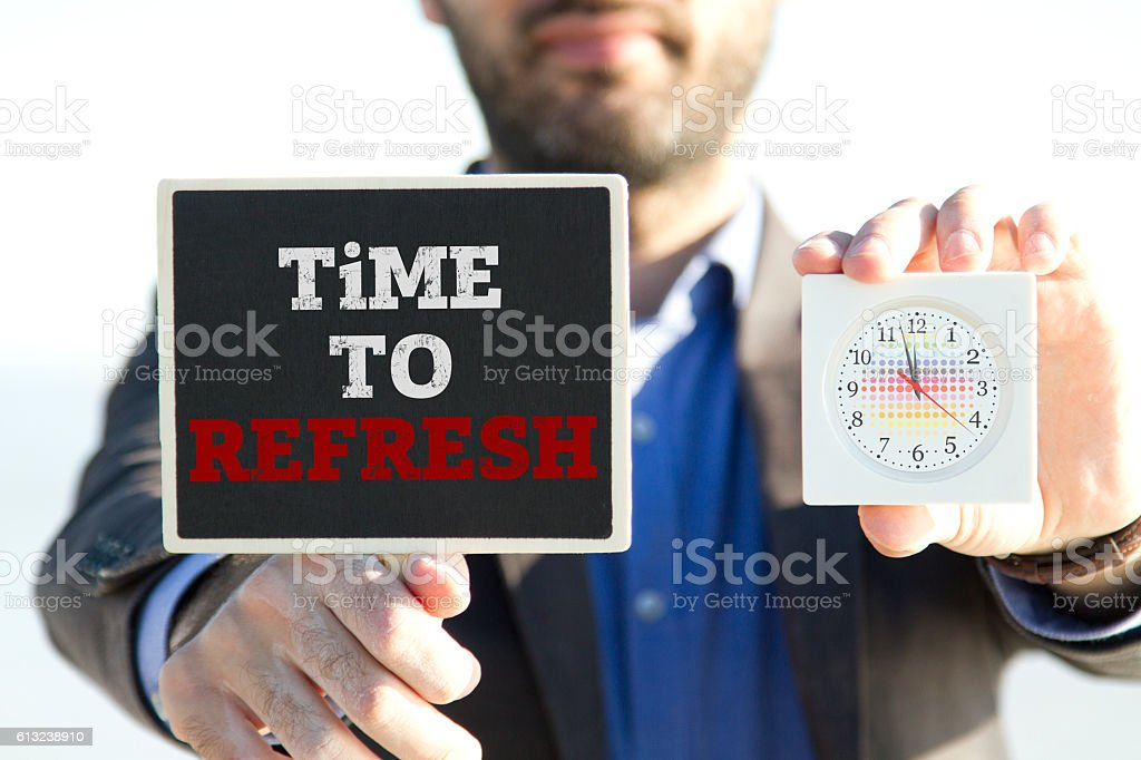 Time to refresh stock photo