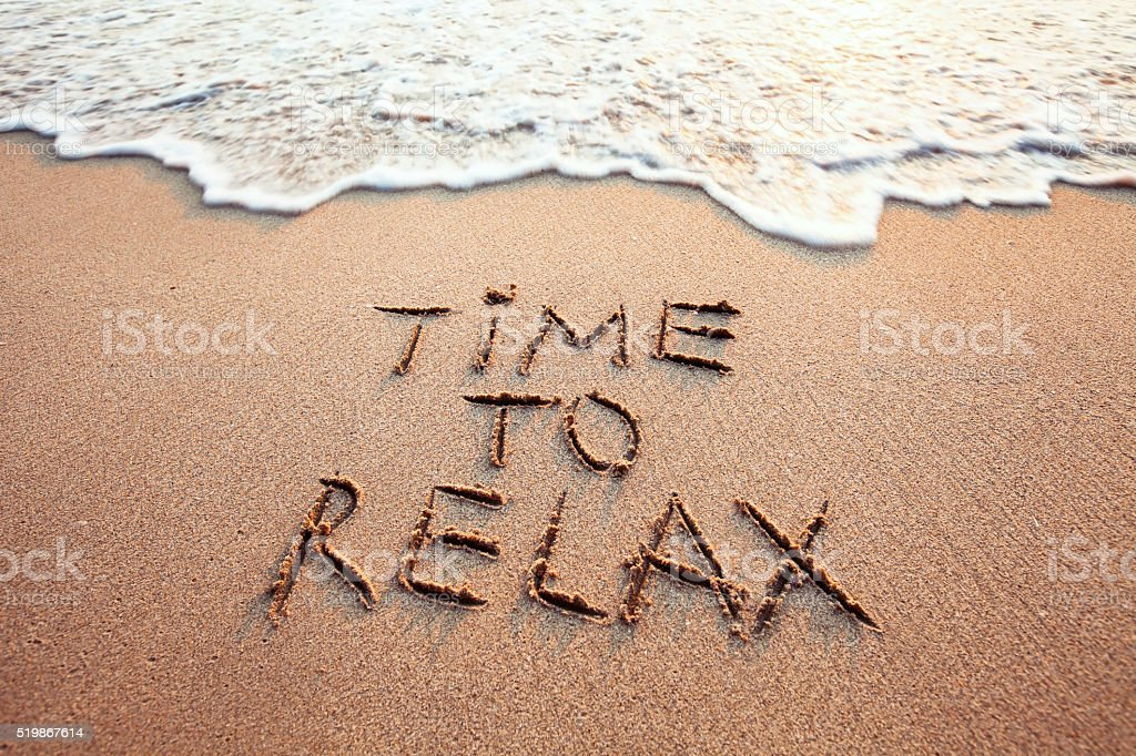 time to relax stock photo