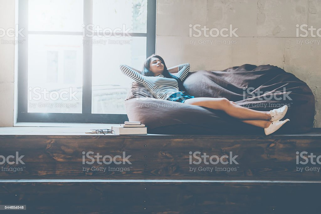 Time to relax. stock photo