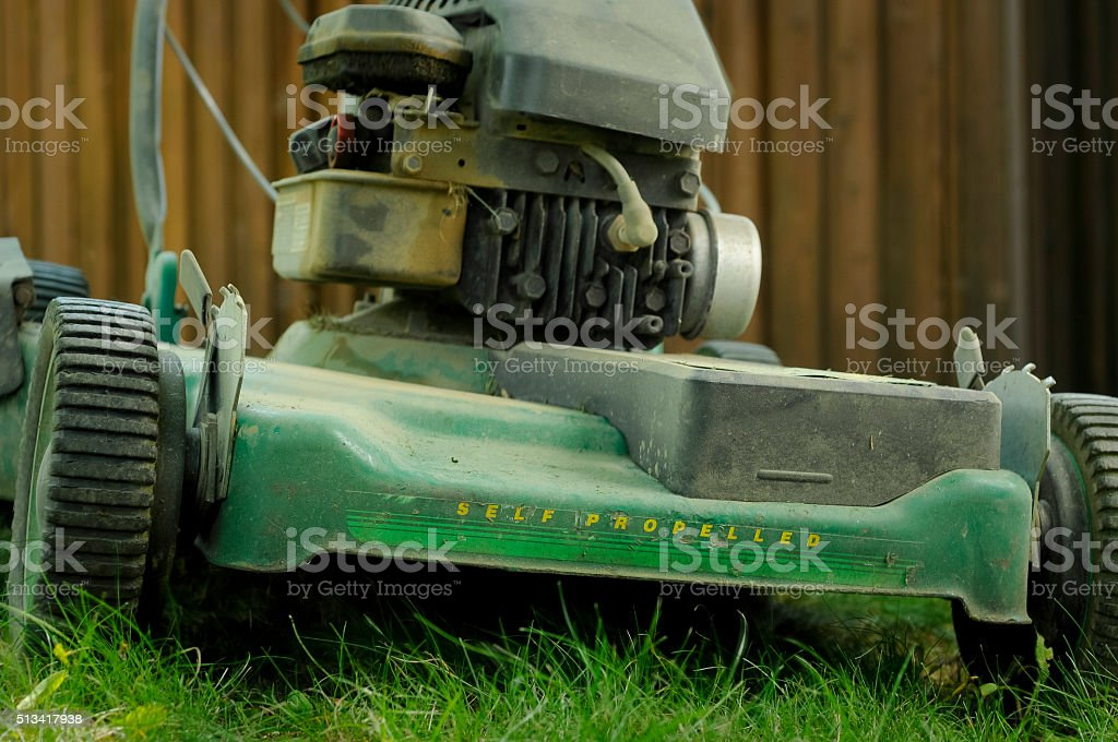 Time to Replace that Old Mower stock photo