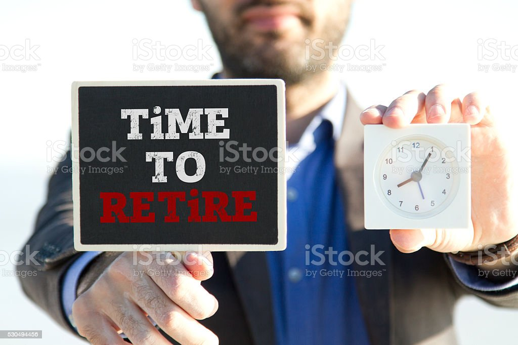 Time to retire stock photo