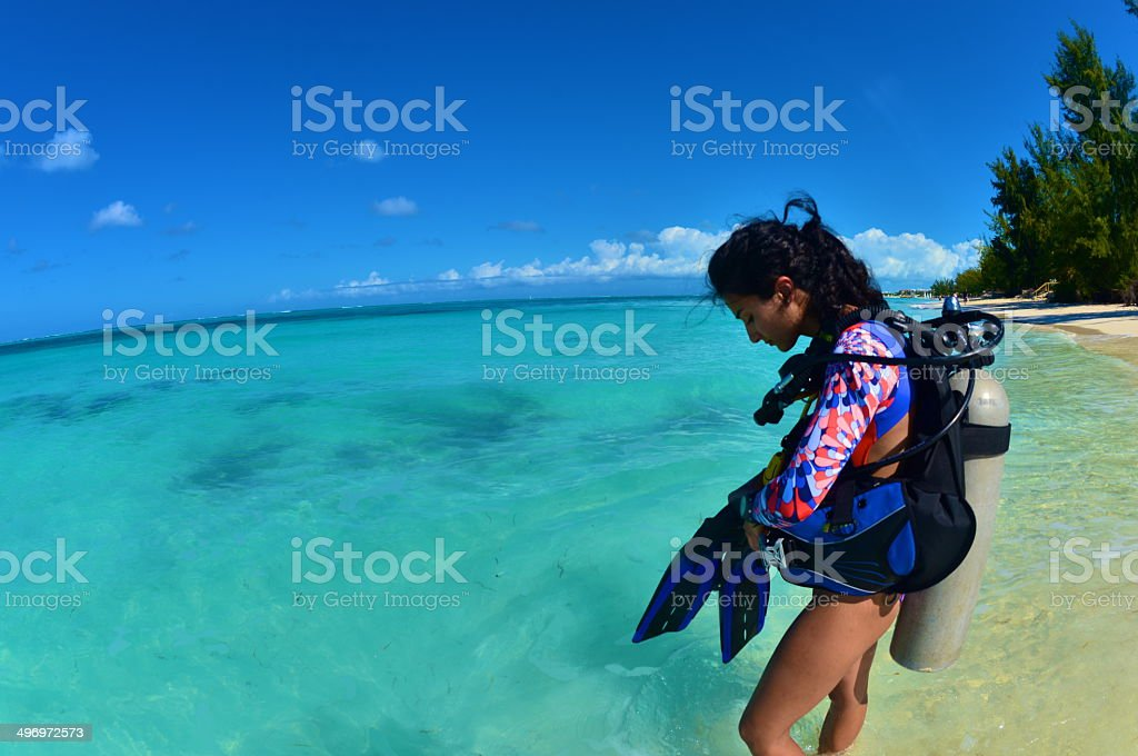 Time to Scuba Dive stock photo