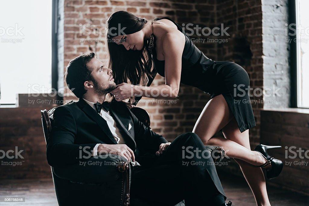 Time to seduce. stock photo