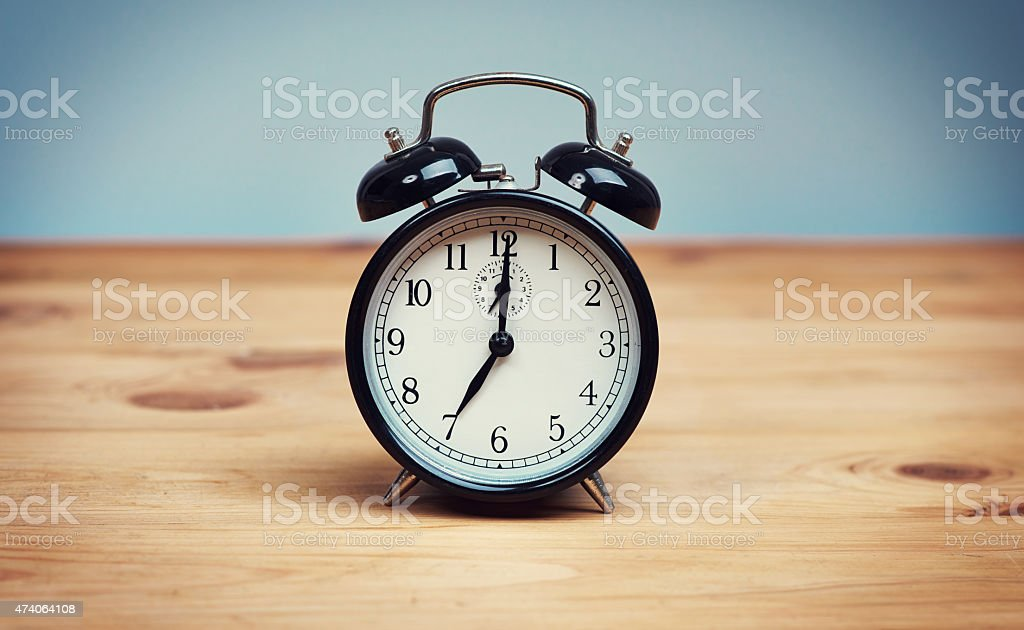 Time to seize the new day! stock photo