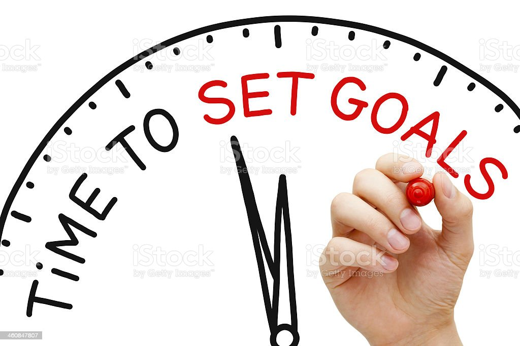 Time to Set Goals stock photo