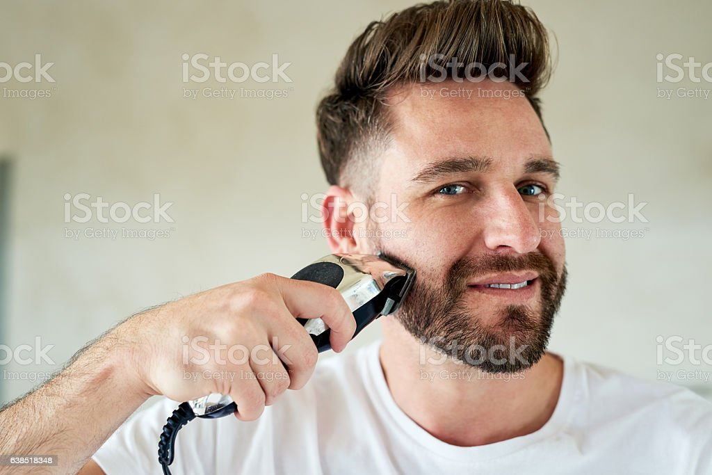 Time to shave it all off stock photo