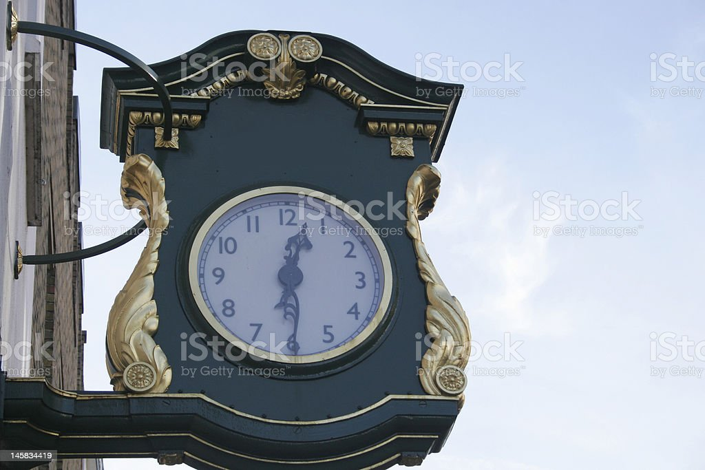 Time to shop in England stock photo