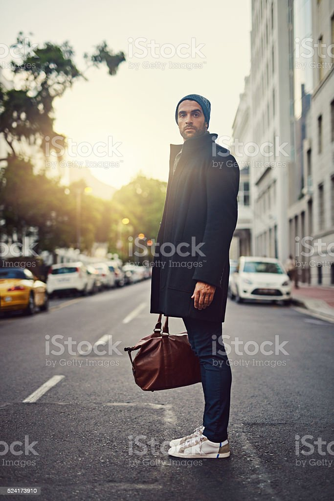 Time to show this city what style really is stock photo