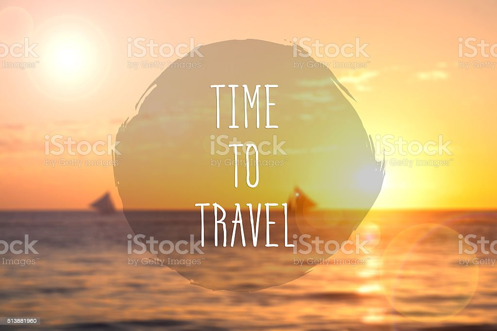 Time to travel stock photo