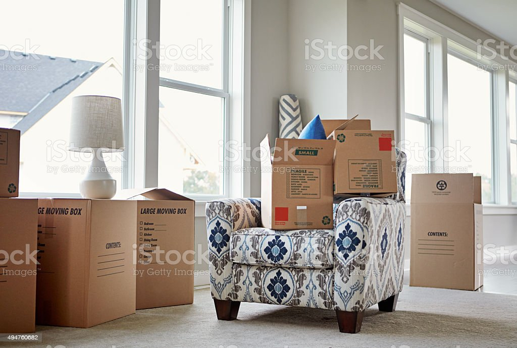 Time to unpack... stock photo