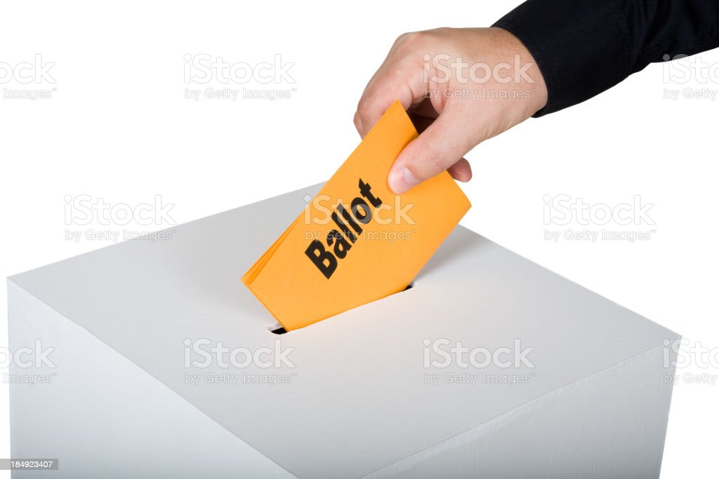 Time to vote stock photo