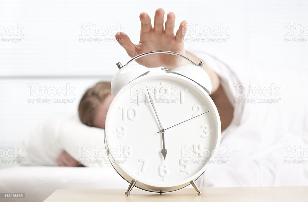 Time to wake up. stock photo