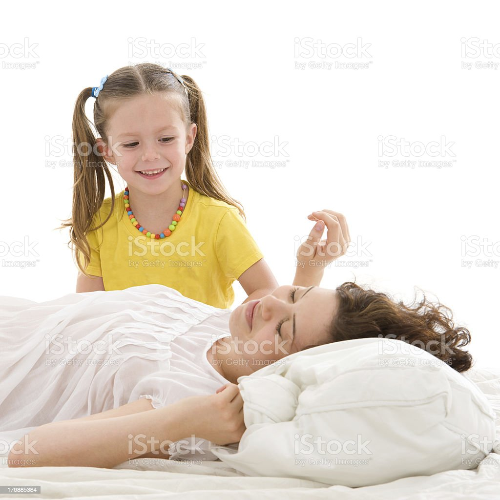 Time to wake up sis! stock photo