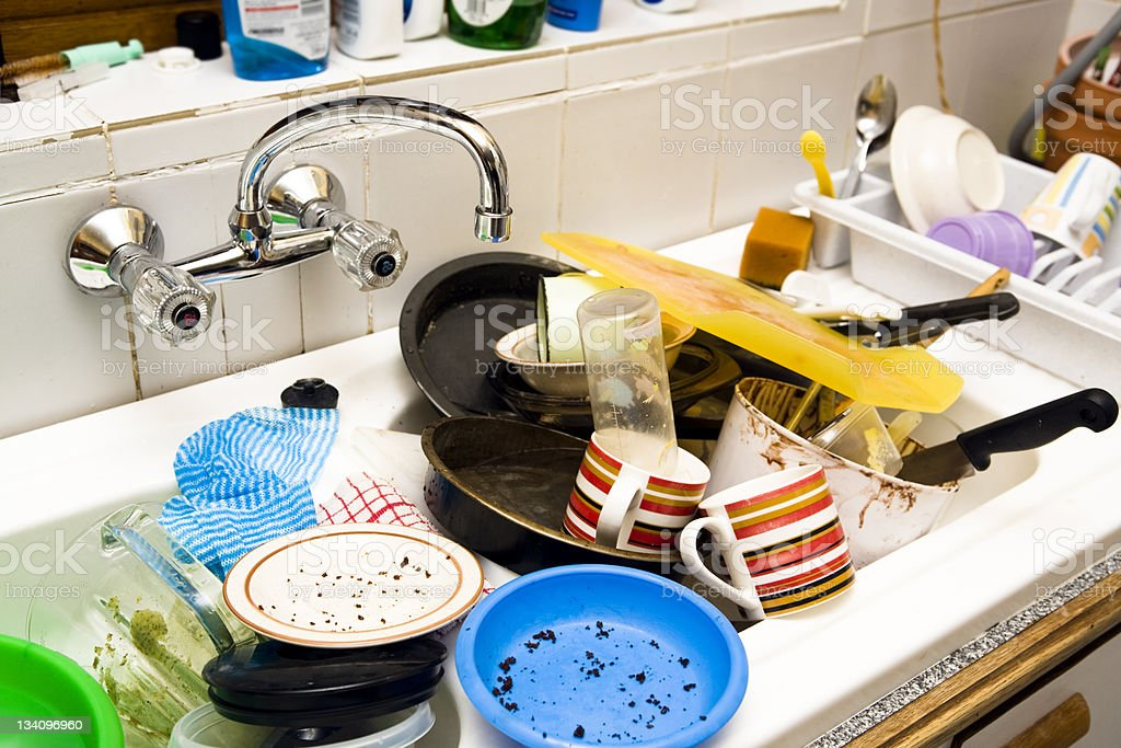 Time to wash up stock photo
