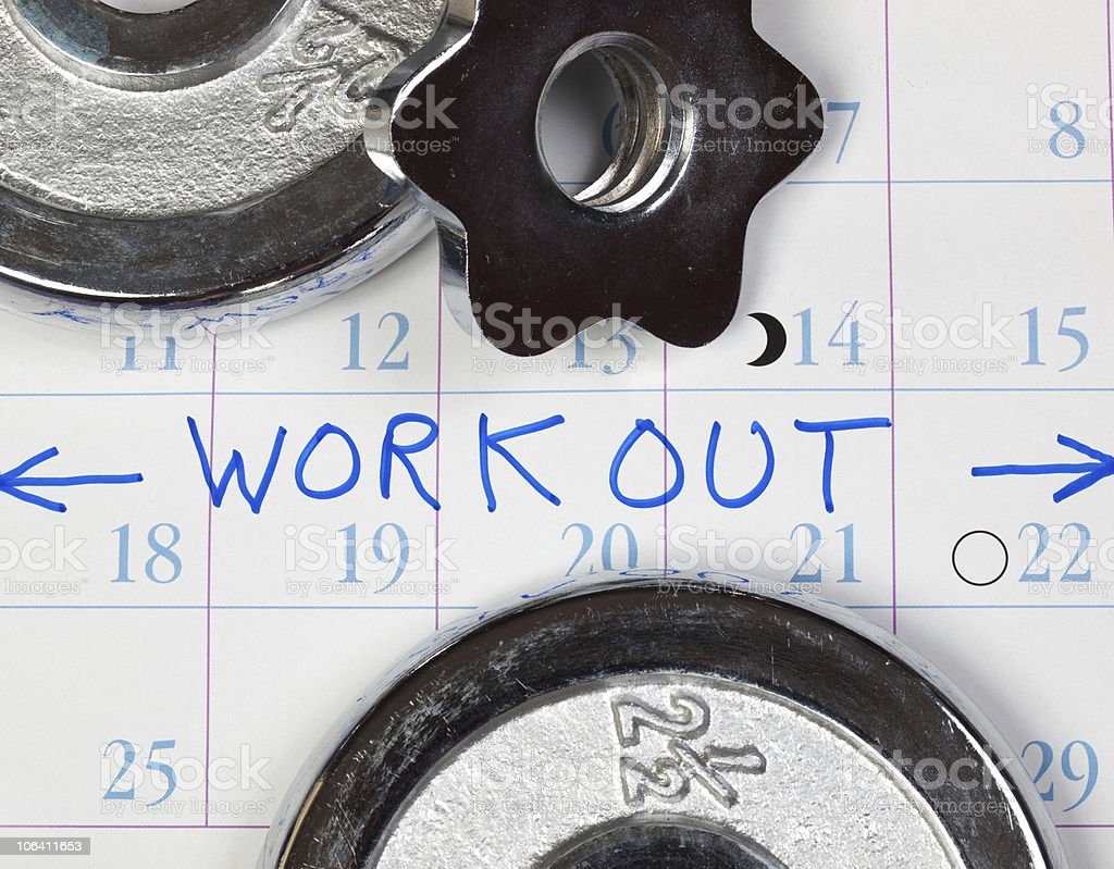 Time to Workout stock photo