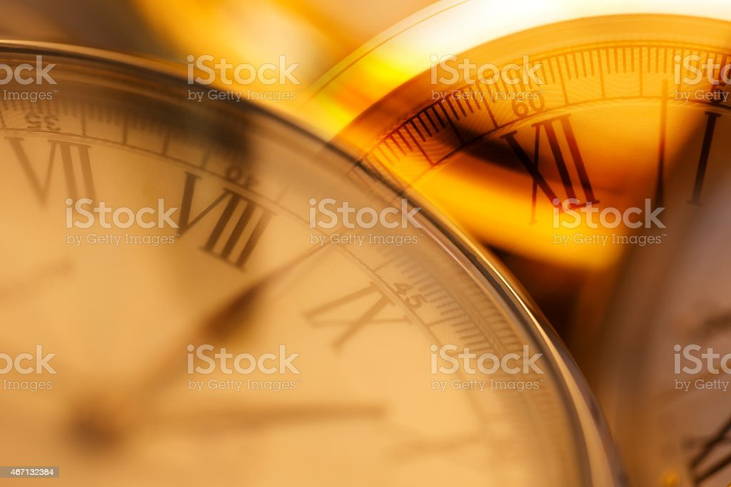 Time Travel. Mechanical old watch - Stock Image stock photo