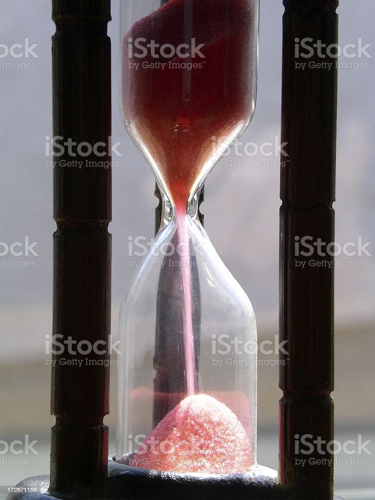 Time Trickling Away royalty-free stock photo