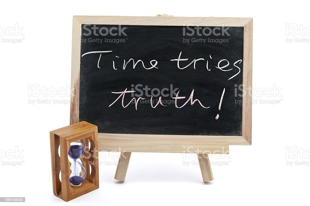 Time tries truth royalty-free stock photo