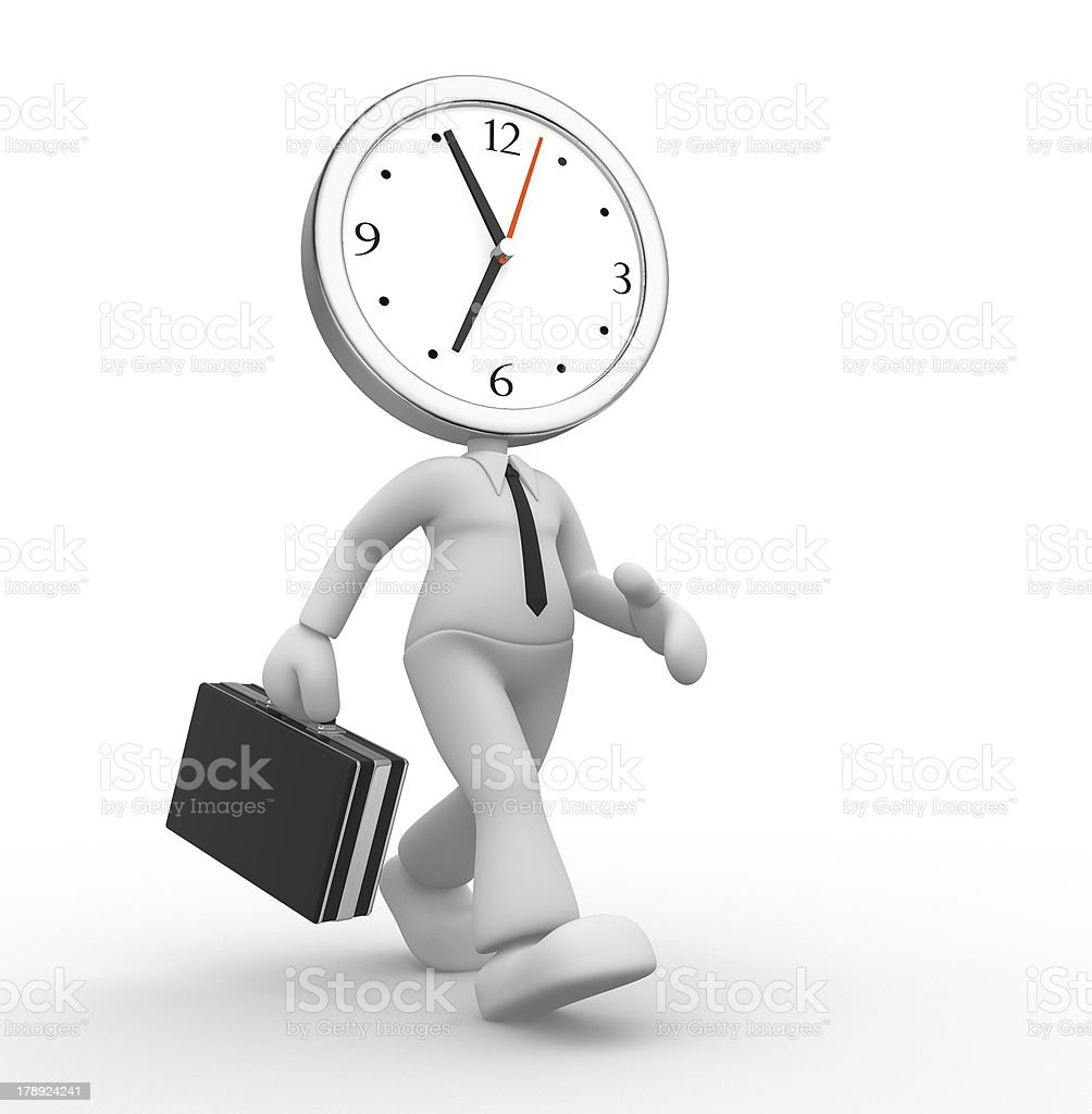 Time trouble. stock photo