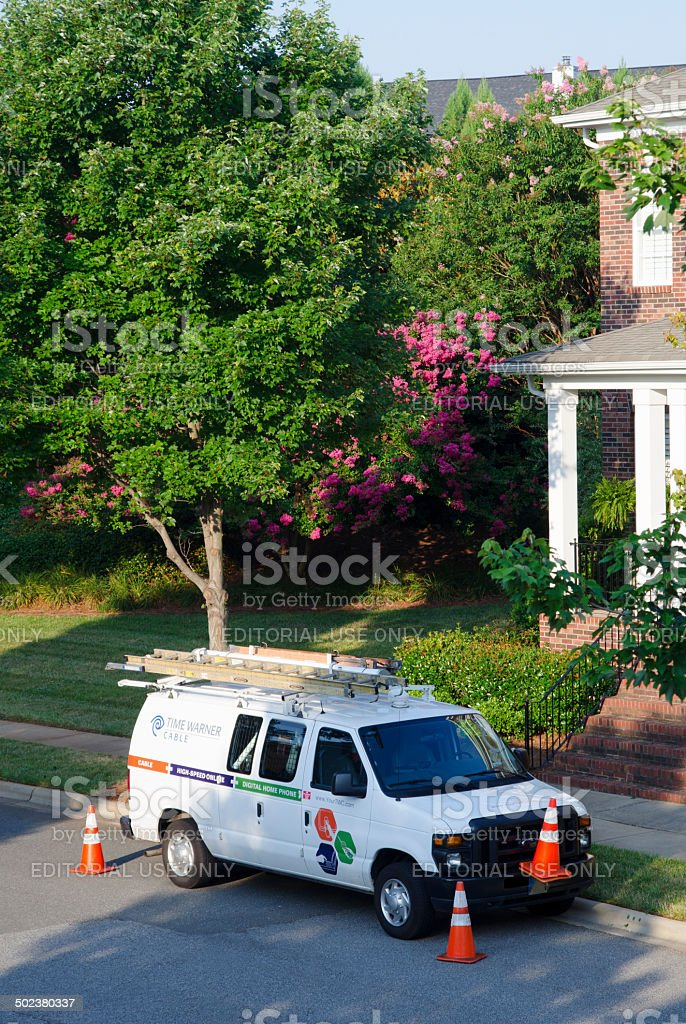 Time Warner Cable Van royalty-free stock photo