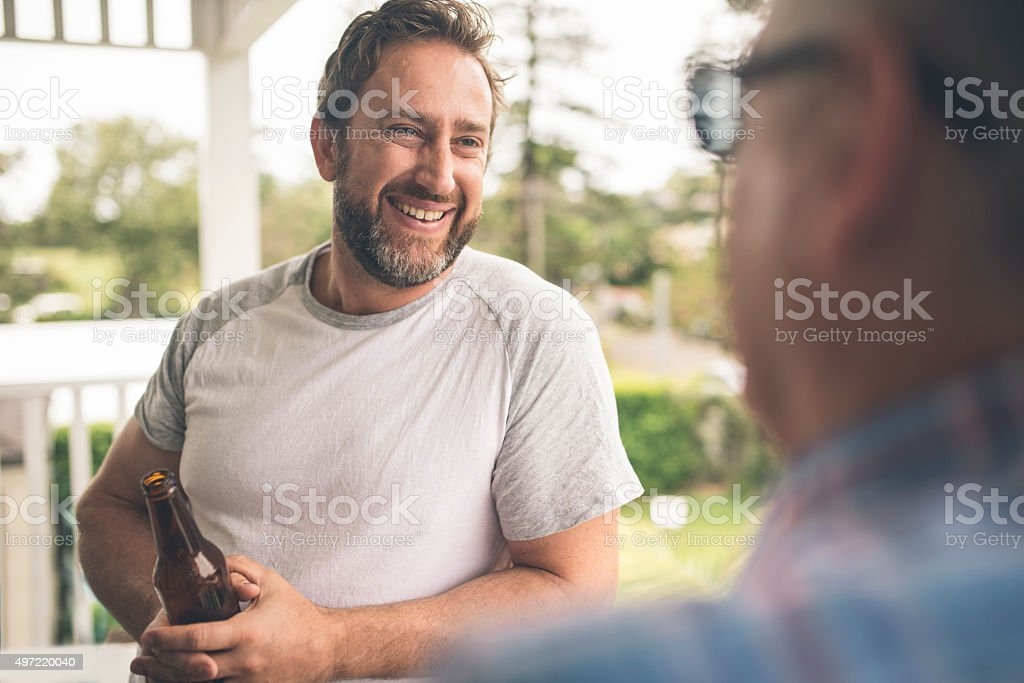 Time with his father stock photo