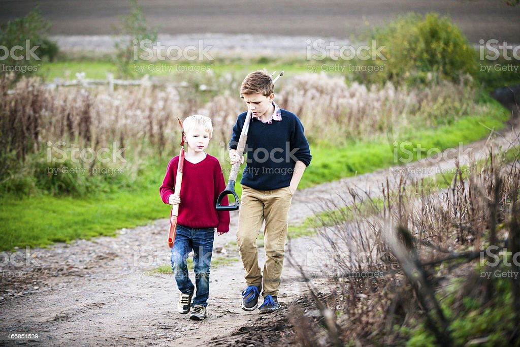 Time With My Brother royalty-free stock photo