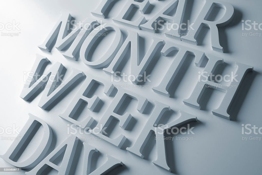 Time words stock photo